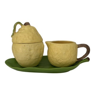 Lemon Coffee & Tea Set For Sale