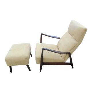 1960s Folke Ohlsson Danish Modern Dux Duxello Lounge Chair and Ottoman For Sale