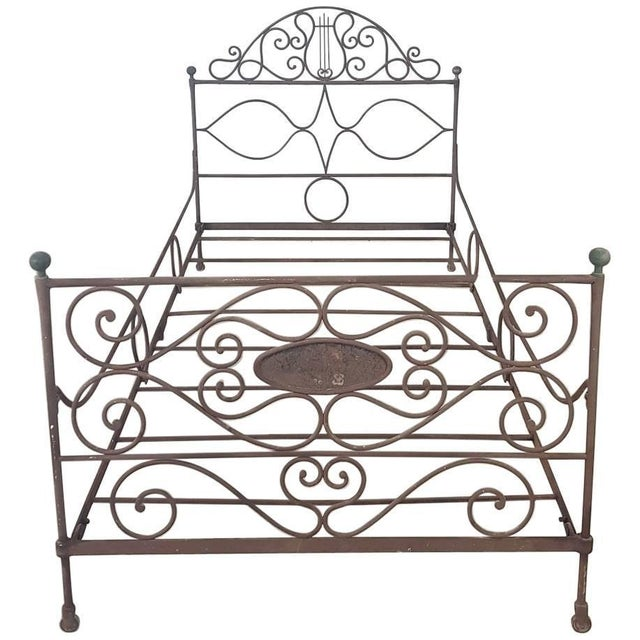 19th Century Empire Iron Single Bed For Sale - Image 13 of 13