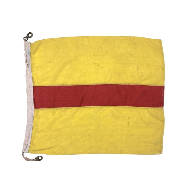 Mid Century Nautical Wool Signal Flag For Sale In Los Angeles - Image 6 of 6