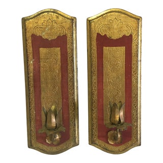 Italian Candle Sconces-A Pair