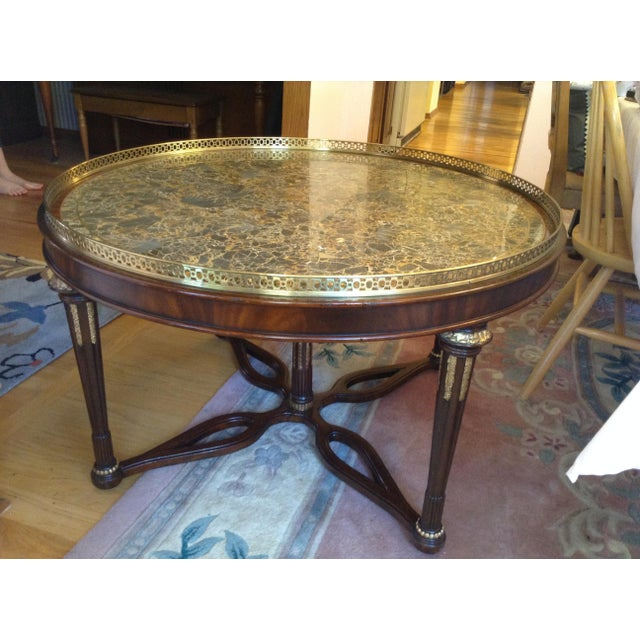 Maitland-Smith Circular Coffee Table - Image 2 of 5