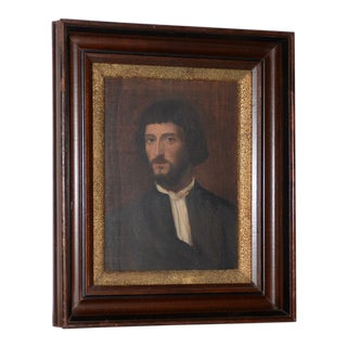 "Early 20th Century Copy of Titian's Oil ""Portrait of a Man"", Paris C.1907 For Sale"