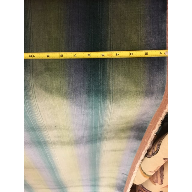 Contemporary Brunschwig & Fils Linear Velvet Stripe Fabric - 14 1/2 Yds. For Sale - Image 3 of 5