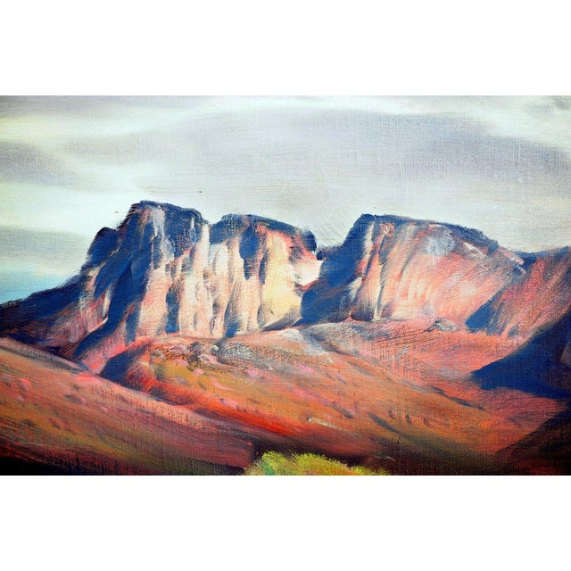 """Paul Lauritz """"Zion National Park"""" Oil Painting - Image 5 of 11"""