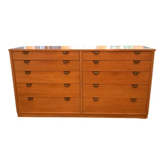 1940s Edward Wormley Glazed Elm 10 Drawer Dresser