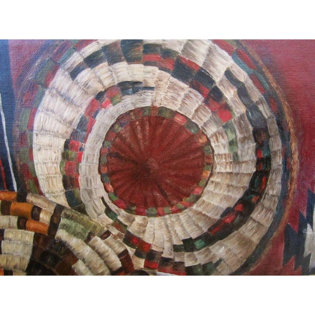 Native American Basketry Painting For Sale In San Francisco - Image 6 of 7