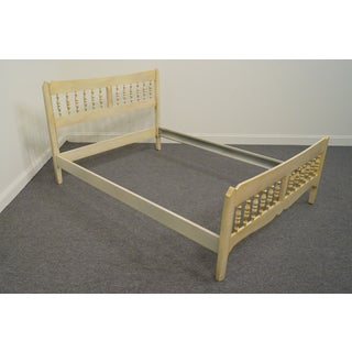 Vintage Mid-Century Ethan Allen Antique White Full Size Spindle Bed Preview