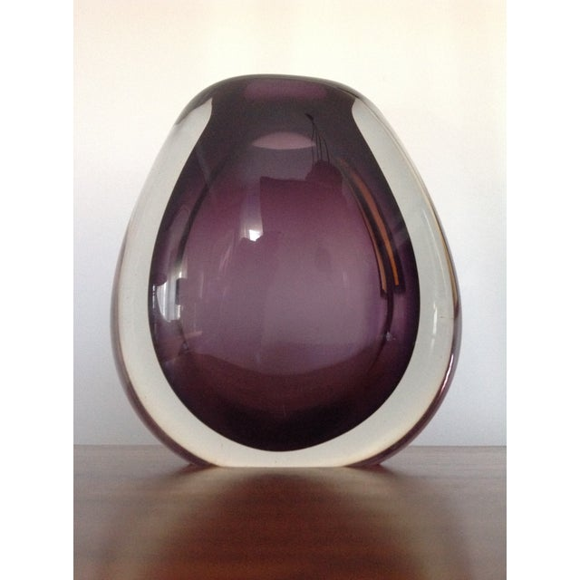 Vintage Holmegaard Glass Vase | Chairish