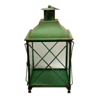 Spanish Iron Green Outdoor Lantern For Sale