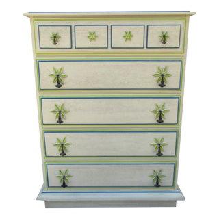 Coastal Palm Themed Dresser For Sale