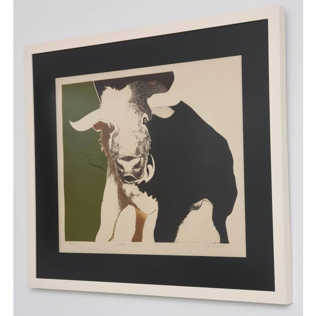 This handsome lithograph captures the strength and spirt of the bull and those under the astrological sign of Taurus....
