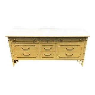 1970s Hollywood Regency Thomasville Yellow Allegro Dresser