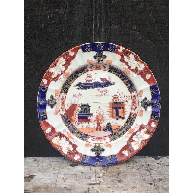 Pretty Mason's ironstone plate made in the 1910s/20s. Has a traditional, hand painted Asian motif and orange, blue and...