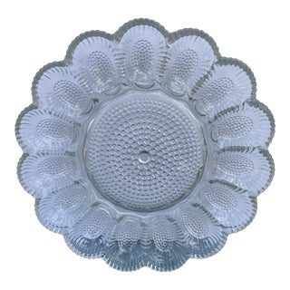 Indiana Glass Hobnail Glass Deviled Egg Plate For Sale