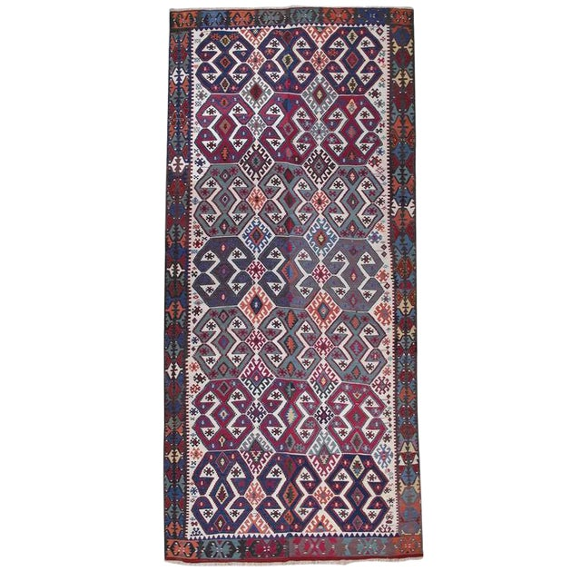 Antique Aksaray Kilim For Sale