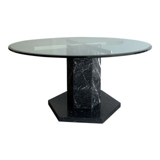 1980s Marble Base Dining Table For Sale