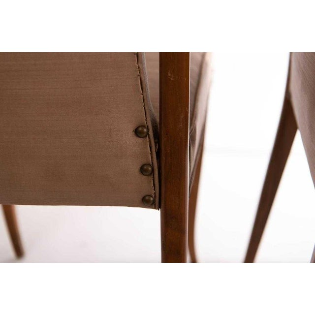 1950s 1950s Vintage Gio Ponti Style Dining Chairs- Set of 4 For Sale - Image 5 of 8