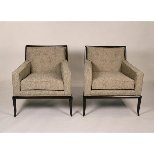 Pair of Classic Lounge Chairs by t.h. Robsjohn-Gibbings For Sale - Image 9 of 9