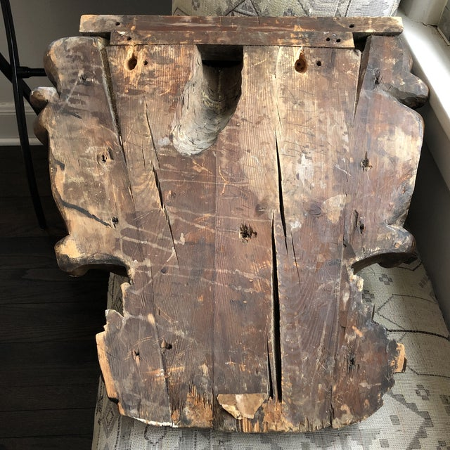 Brown 19th Century Carved Architectural Wall Shelf For Sale - Image 8 of 10