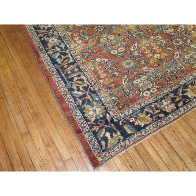 Textile Circa 1930 Persian Mahal Rug - 8'4'' x 10'6'' For Sale - Image 7 of 8