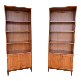 Henkel Harris #493 Cherry Pier Cabinets Open Bookcases - a Pair For Sale