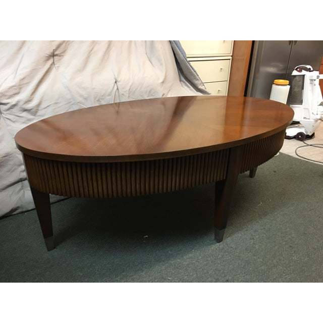 Ethan Allen Albee Coffee Table: Ethan Allen Legacy Ribbed Coffee Table