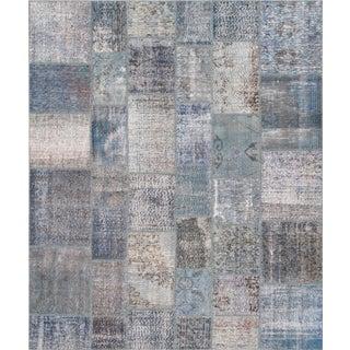 """Vintage Patchwork Wool Rug - 8' 1"""" X 9' 9"""""""