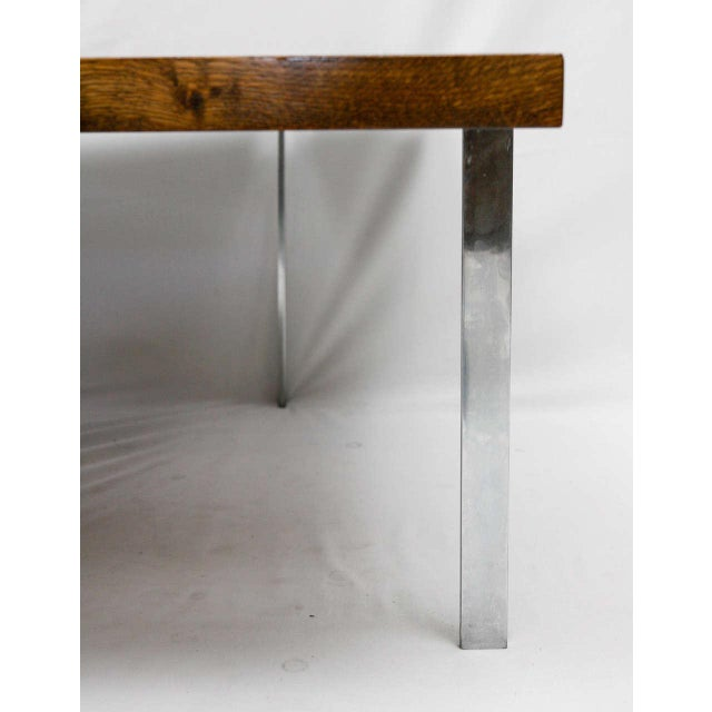Metal Danish Tile Top Coffee Table For Sale - Image 7 of 9