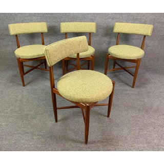 Vintage British Mid Century Modern Dining Chairs by G Plan Attributed to Kofod Larsen- Set of Four Preview
