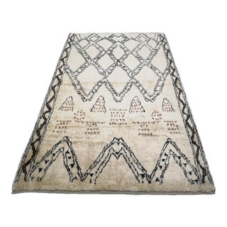 Turkish Hand-Knotted Moroccan Style Boho Area Rug For Sale