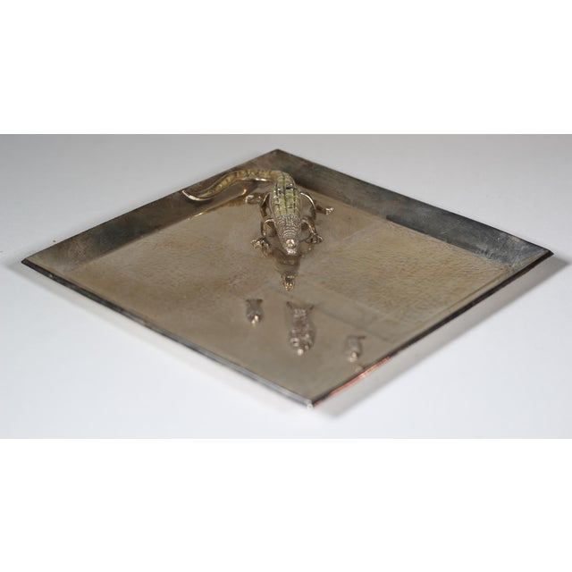 Silver Plated Alligator and Fish Tray - Image 3 of 5