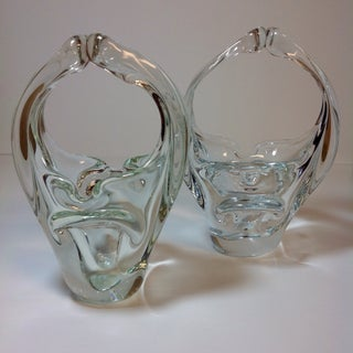 Murano Blown Crystal Baskets - A Pair Preview