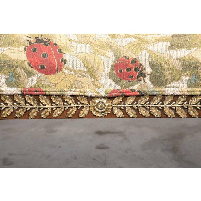 Fabric Early 19th Century French Empire Period Mahogany Lit De Repos Chaise Longue For Sale - Image 7 of 11
