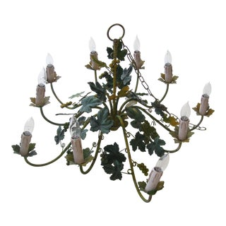 1970s Shabby Chic Grape and Vine Chandelier For Sale