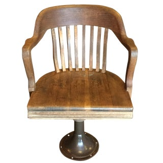 1930s Harris County Texas Plaintiff Chair For Sale