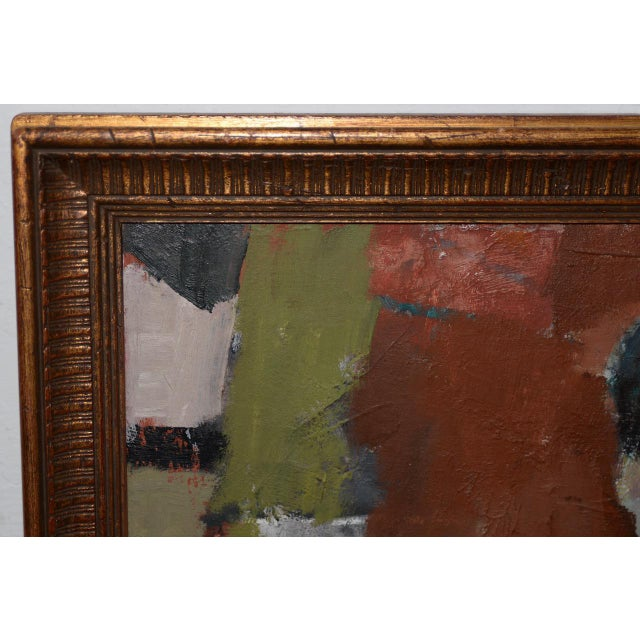 Marcello Avenali (Italy, 1912-1981) Portrait of Young Woman Oil Painting C.1950s For Sale - Image 4 of 8