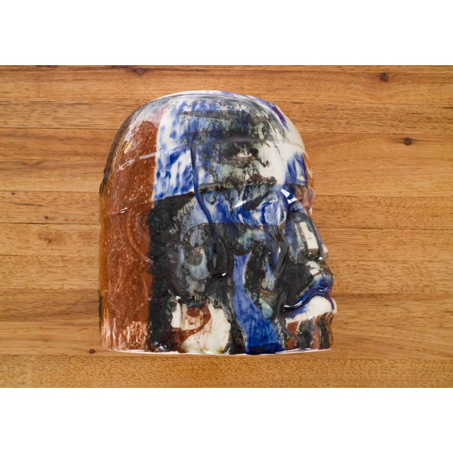 Brutalist Olmec Head by Eric Ledoux For Sale - Image 3 of 8