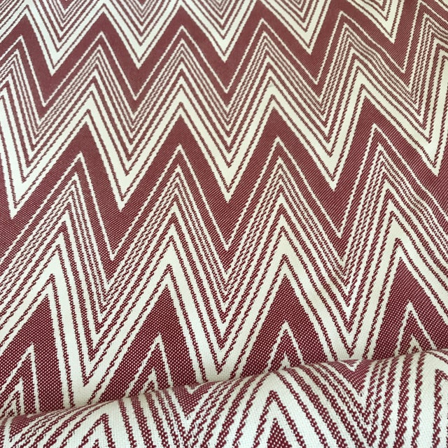 "2010s Brunschwig & Fils ""Grace"" in Rojo Fabric For Sale - Image 5 of 5"