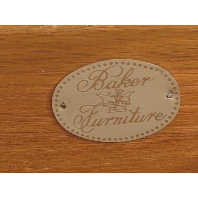 Baker English Style Oak & Walnut Sideboard For Sale - Image 11 of 12
