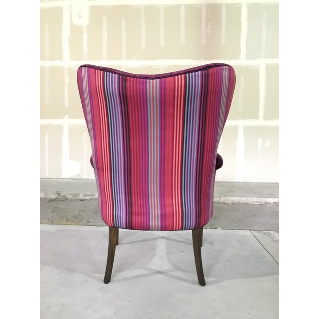 Textile 1940s Vintage Butterfly Wingback Fireside Chair Attributed to Grosfeld House Designers Guild Velvet For Sale - Image 7 of 12