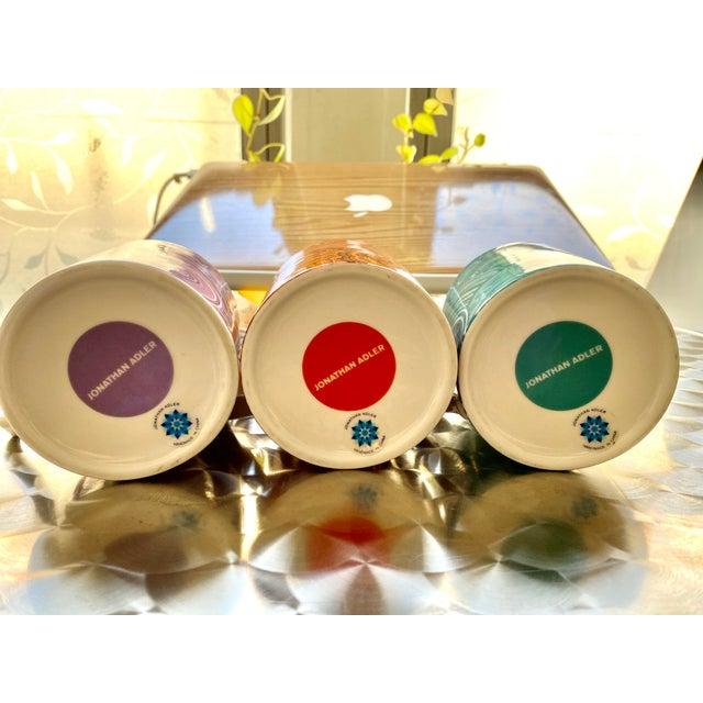 2010s Jonathan Adler Malachite-Patterned Mugs - Set of 2 For Sale - Image 5 of 6