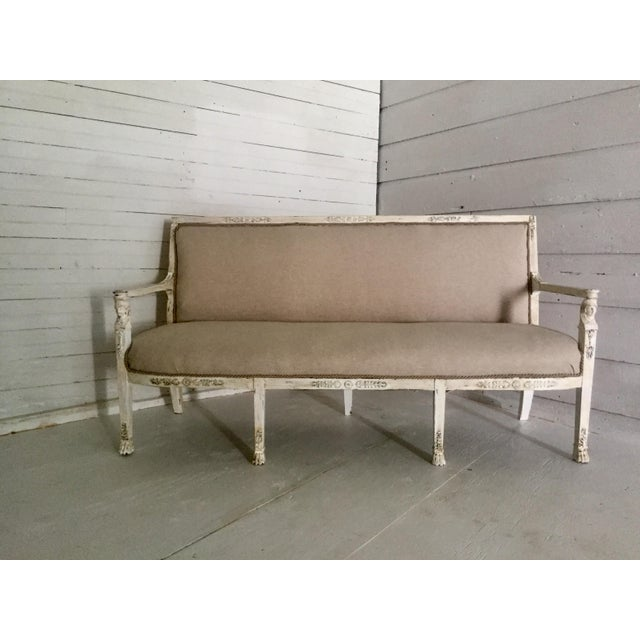 Antique French Neoclassical Setee - Image 2 of 8