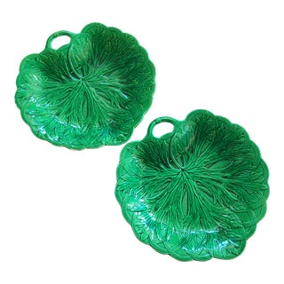 Wedgwood Majolica Cabbage Servers For Sale