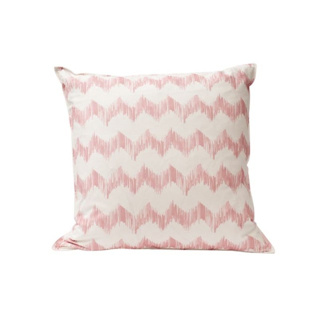 Pink Zig Zag Throw Pillow For Sale