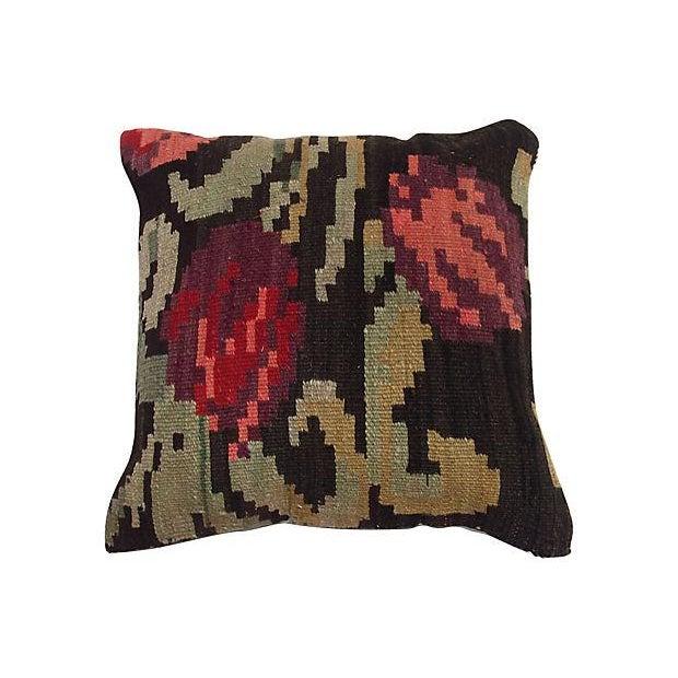 Vintage Kilim Fragment Pillow - Image 1 of 3