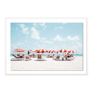 Miami I by Natalie Obradovich in White Framed Paper, Medium Art Print For Sale