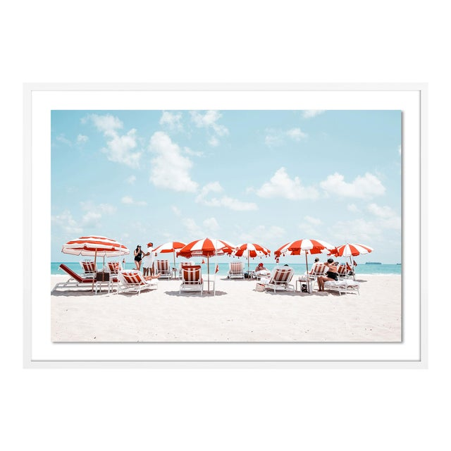 Miami I by Natalie Obradovich in White Framed Paper, Medium Art Print For Sale