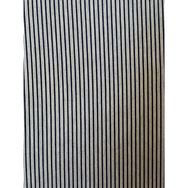 Late 20th Century 20th Century Traditional Upholstered Brown Linen Folding Screen For Sale - Image 5 of 7