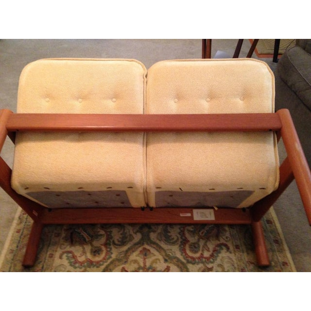 Domino Mobler Vintage Danish Modern Teak Loveseat For Sale - Image 5 of 6